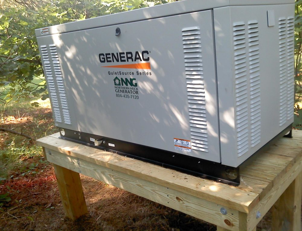 27 kw kilowatt generac generator on a custom built platform by northern neck generator in middlesex