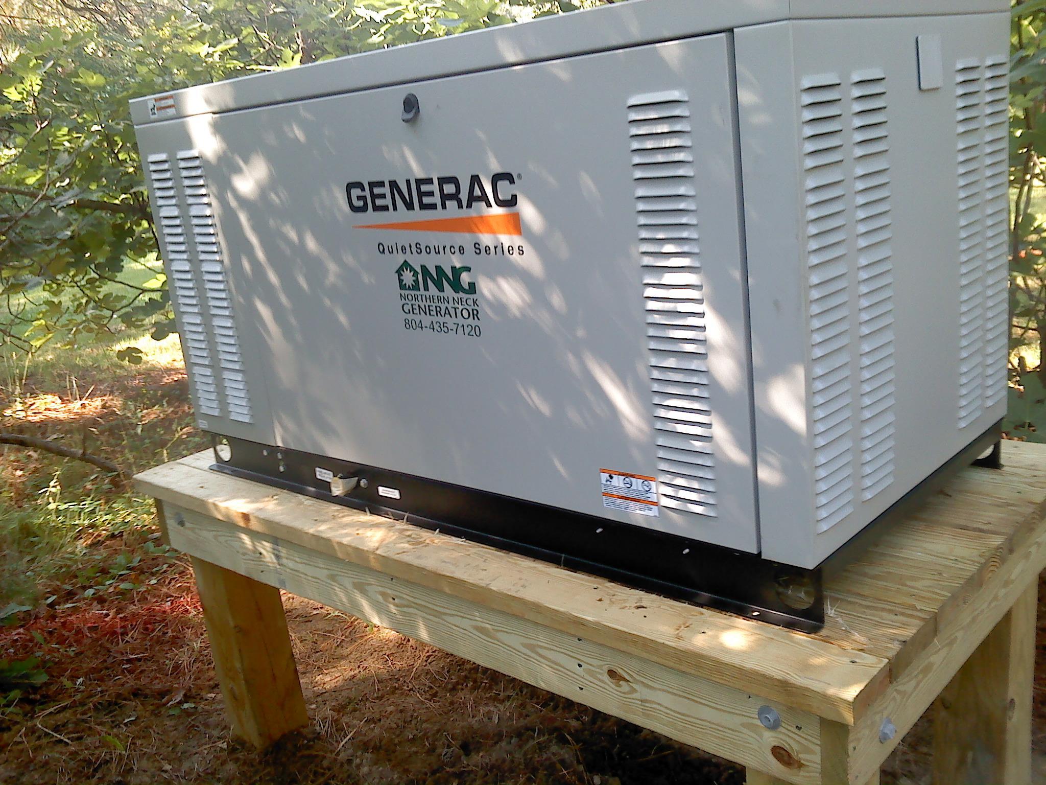 27 kw kilowatt generac generator on a custom built platform by