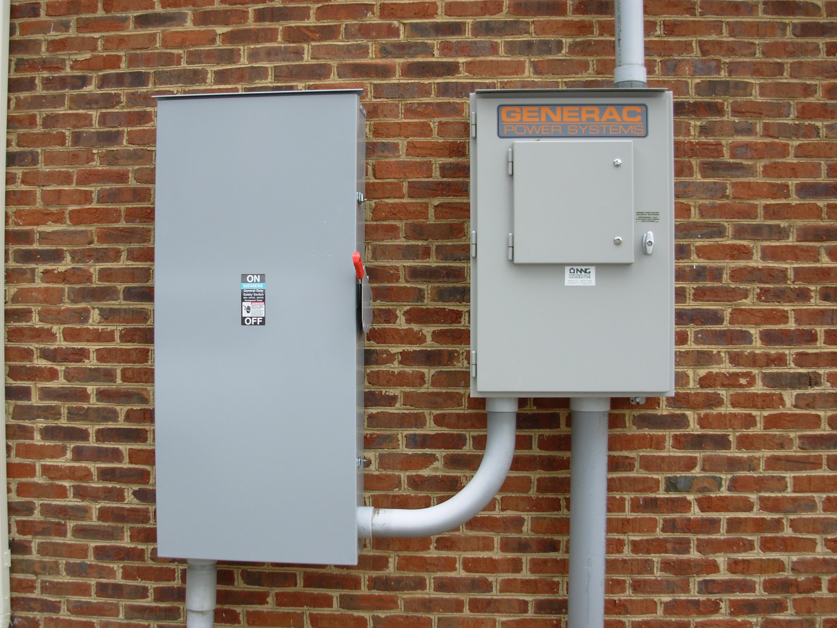 400 Amp Transfer Switch Installed By Nng At Bank Of