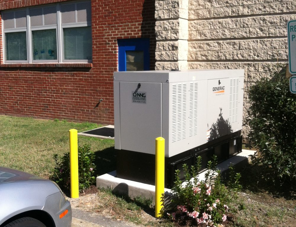 Diesel commercial generac generator on essex county school board