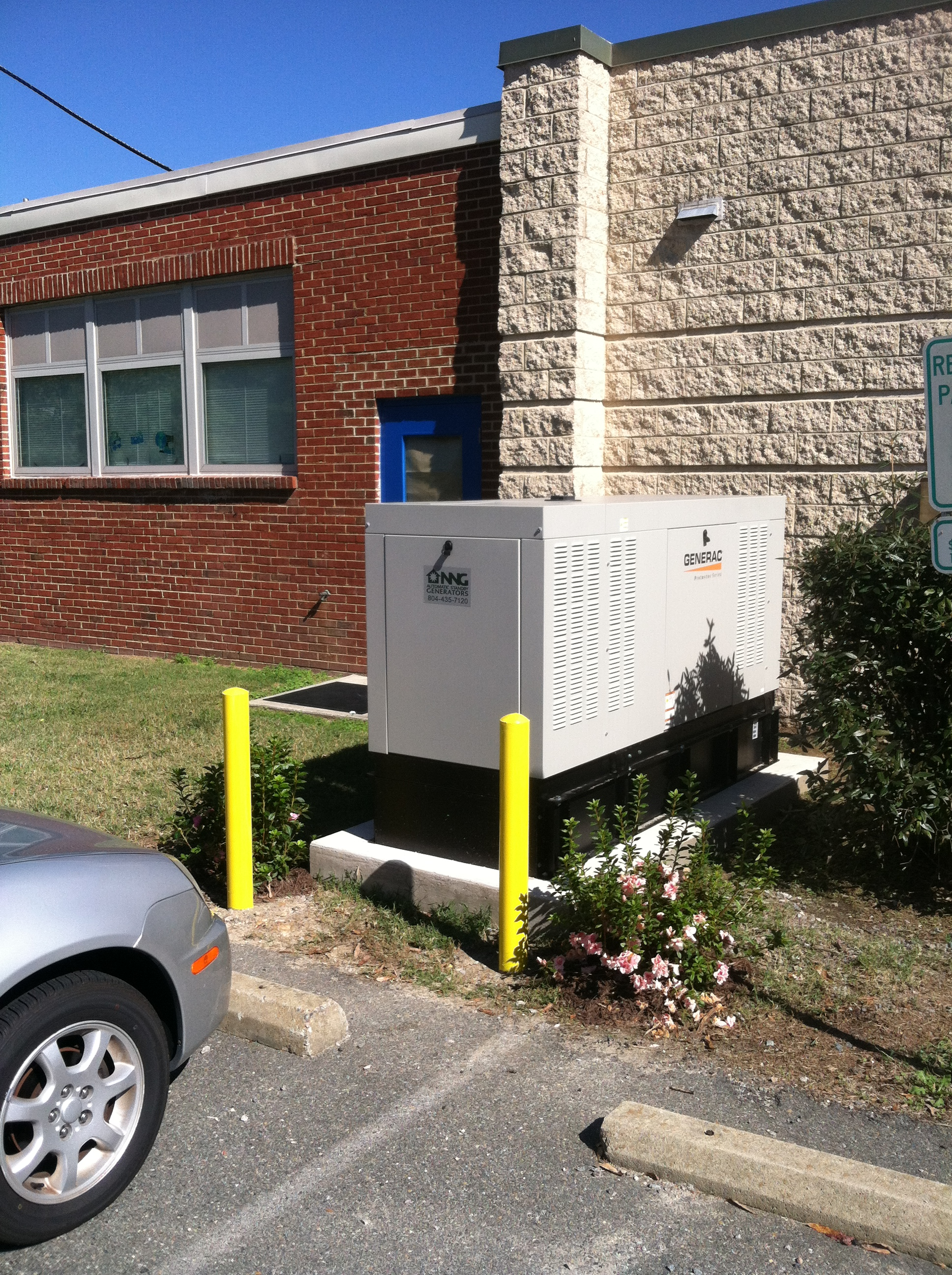 Diesel mercial generac generator on es county school board