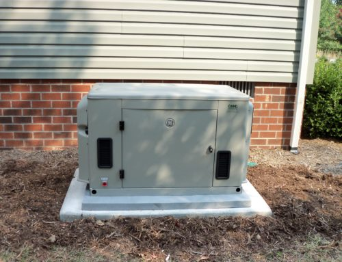 GE generator on a home for power outages