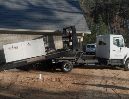 Generac 70kW automatic generator on the NNG truck