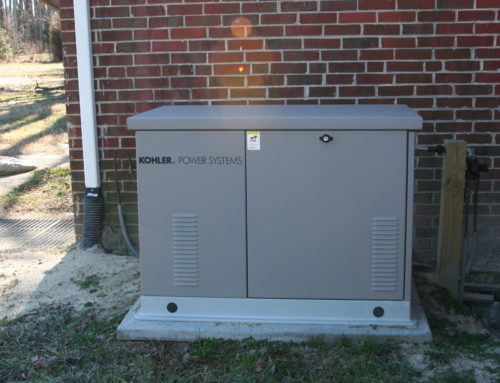 Kohler 20kW generator with an aluminum enclosure installed by NNG standby generators in westmoreland county