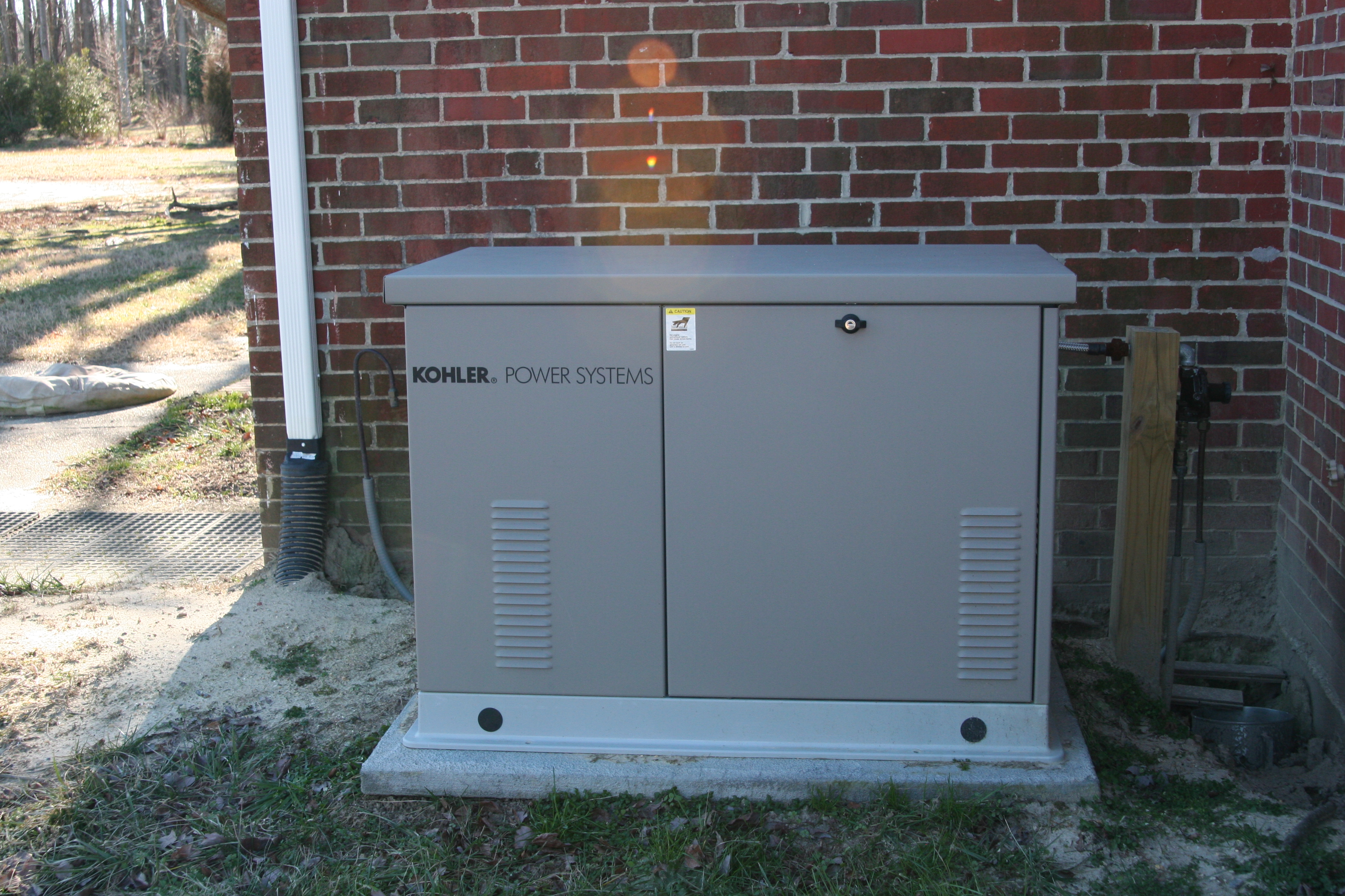 Kohler 20kW generator with an aluminum enclosure installed by NNG