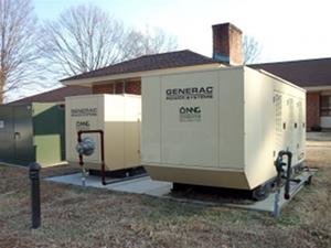 Poured Concrete Genpad 3 Nng Automatic Standby Generators