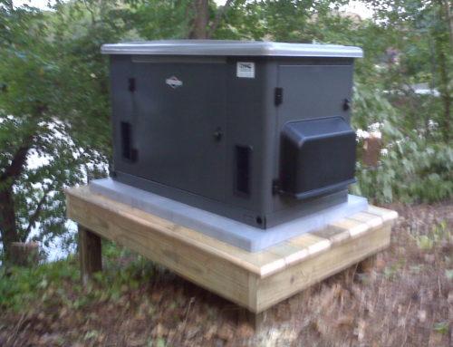 briggs & startton 20kW air cooled generator on platform installed by northern neck generator