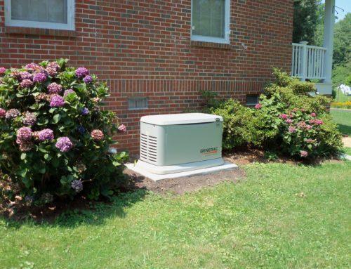 generac 20kw generator whole house on a genpad in kilmarnock