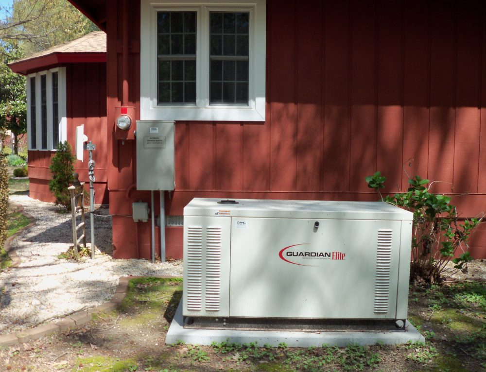 generac 25 kW generator on a preformend pad and 200A transfer switch installed by nng in lancaster county