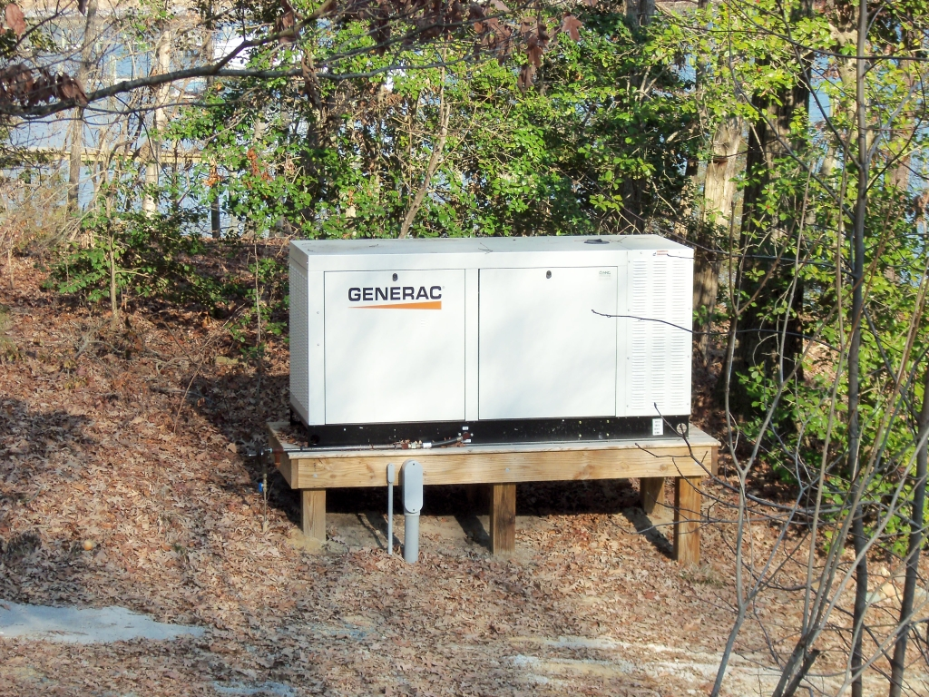 Generac Kilowatt Generator Installed On A Raised Platform By Nng Standby Generators X