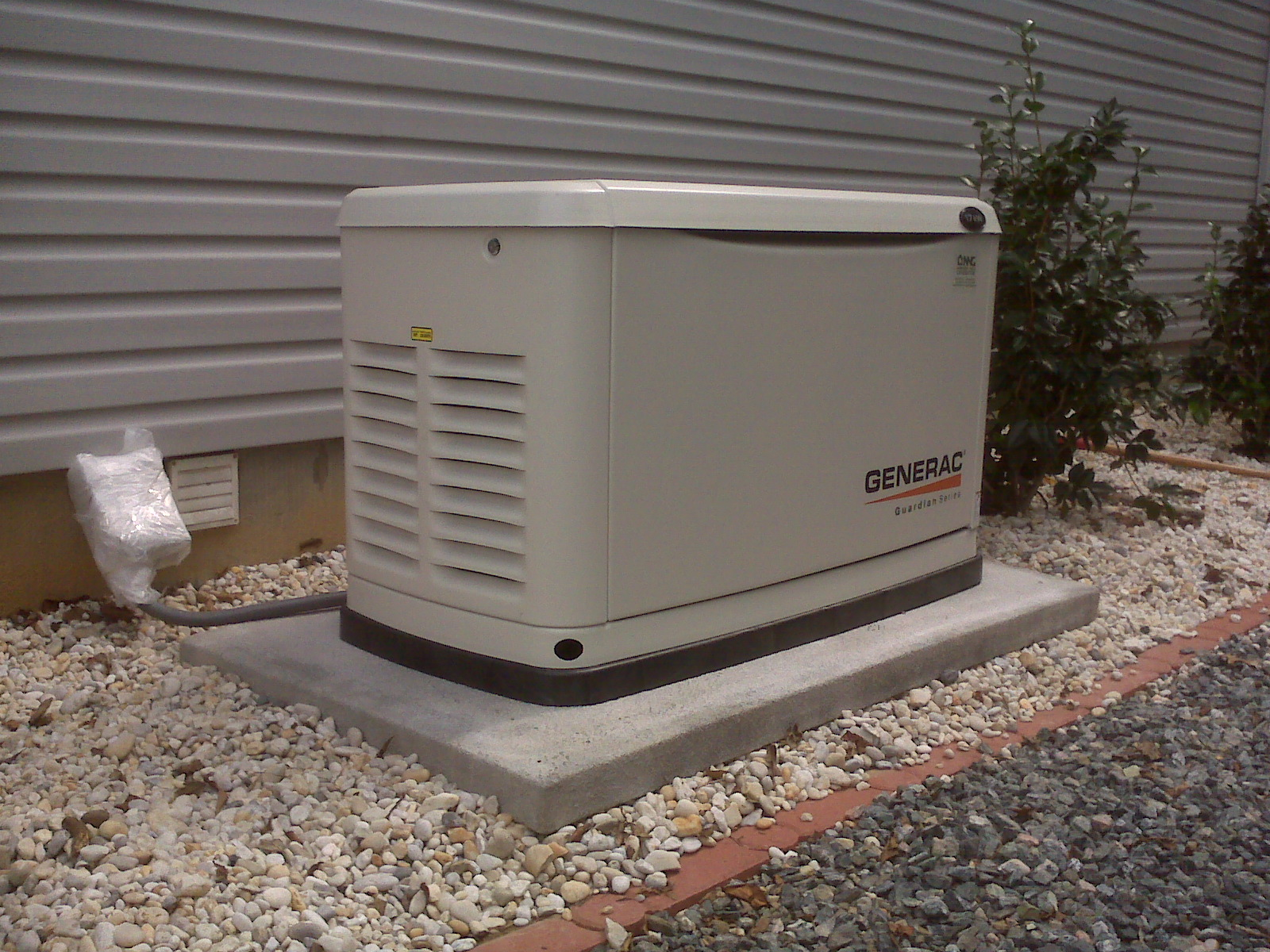 Generac 30 kw sel generator for residential home installed and