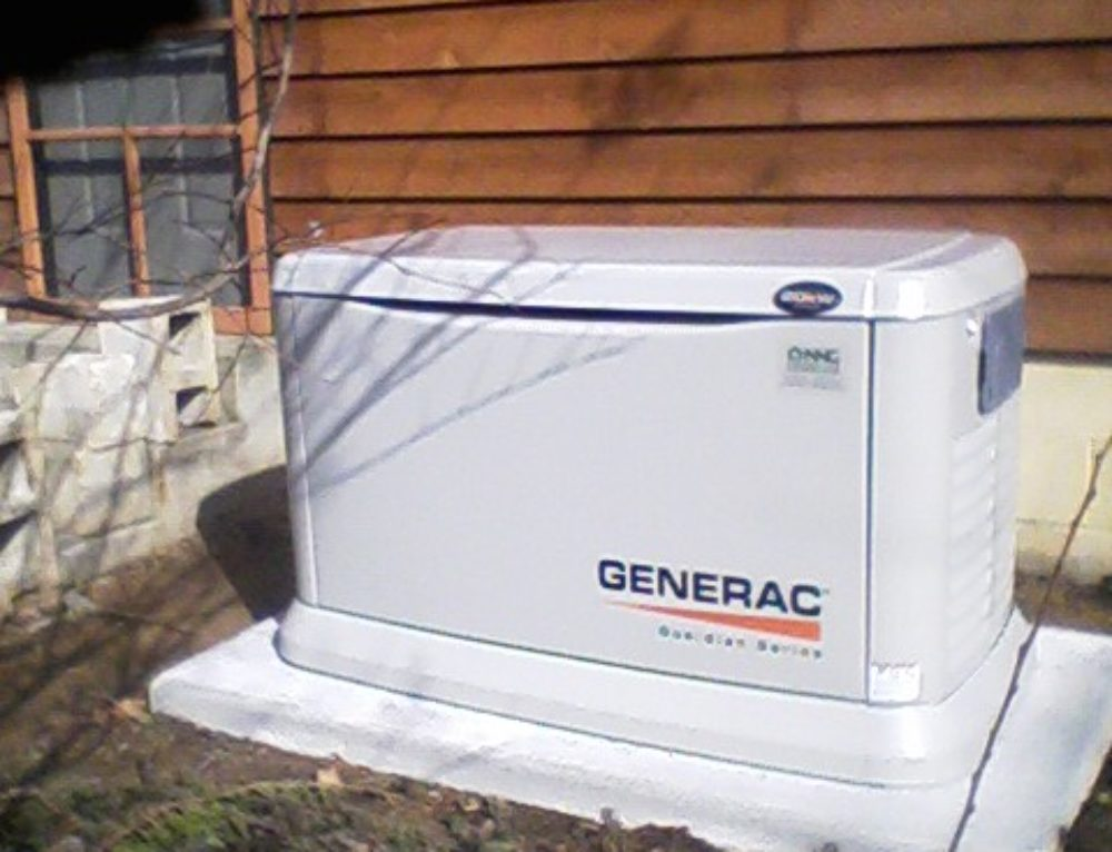 generac air cooled whole house generator in reedville