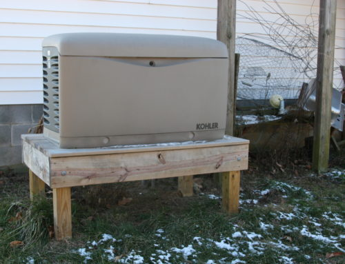 kohler generator on a platform installed by NNG in_Richmond_county